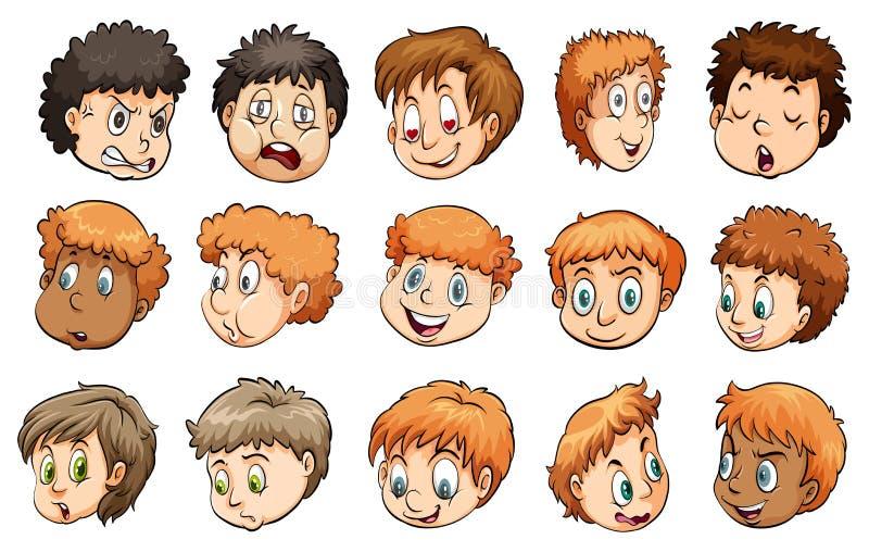 Un groupe de têtes illustration stock