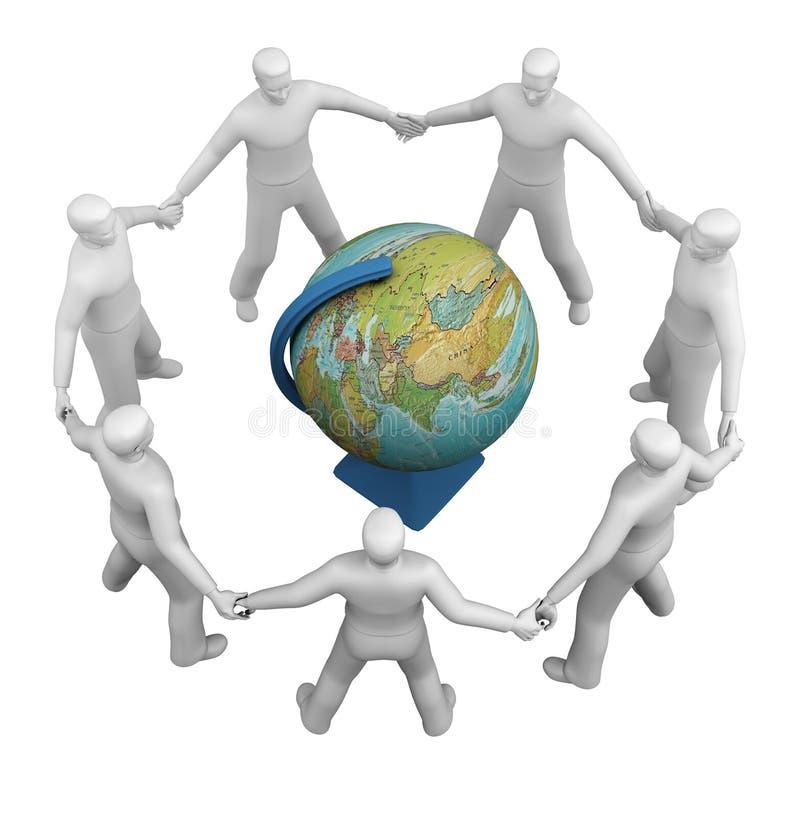 Un groupe global de gens de symbole illustration libre de droits
