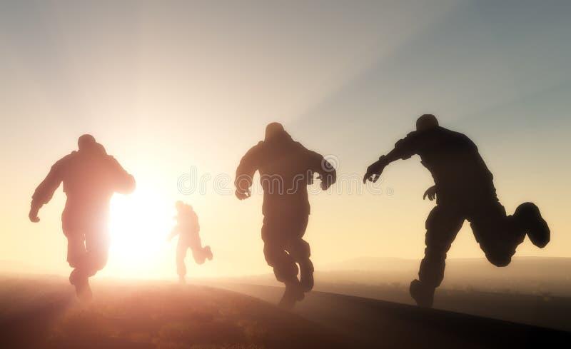 Un grupo de hombres stock de ilustración