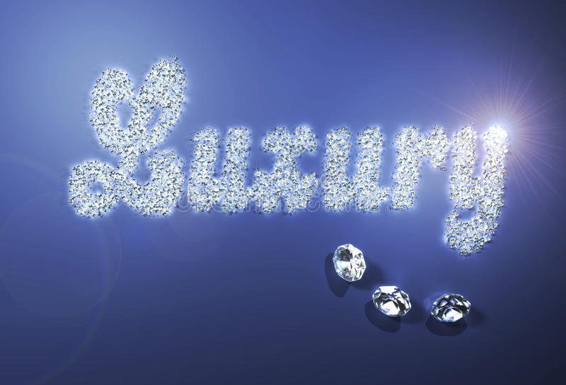 Lujo con los diamantes ilustración del vector