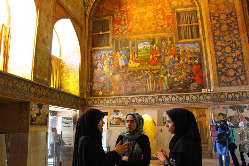 Un grupo de mujeres iraníes, Irán imagen de archivo