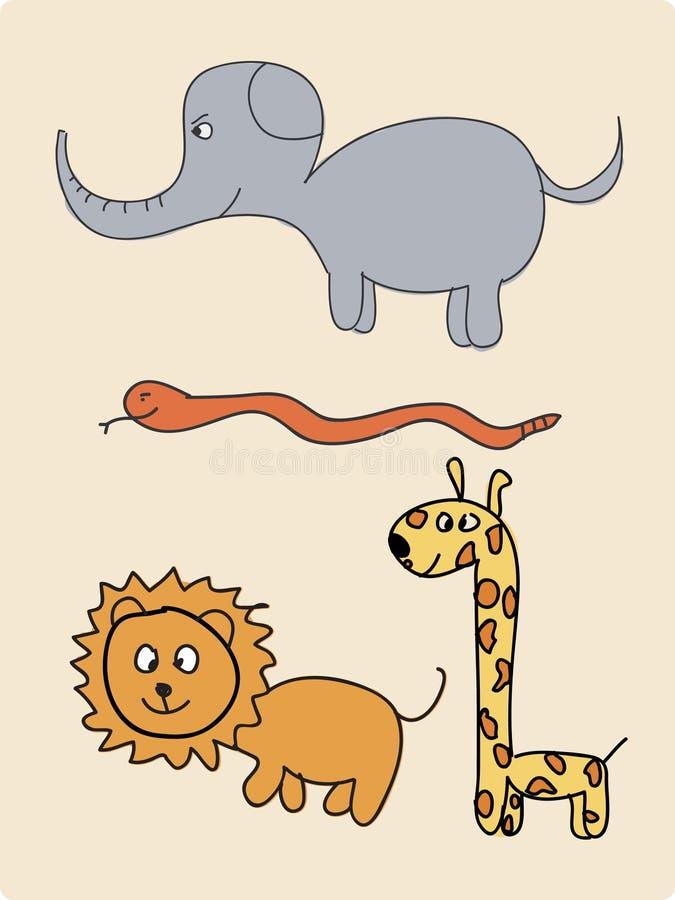 Un gruppo di animale royalty illustrazione gratis