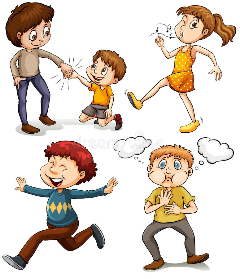Un gruppo di bambini illustrazione di stock