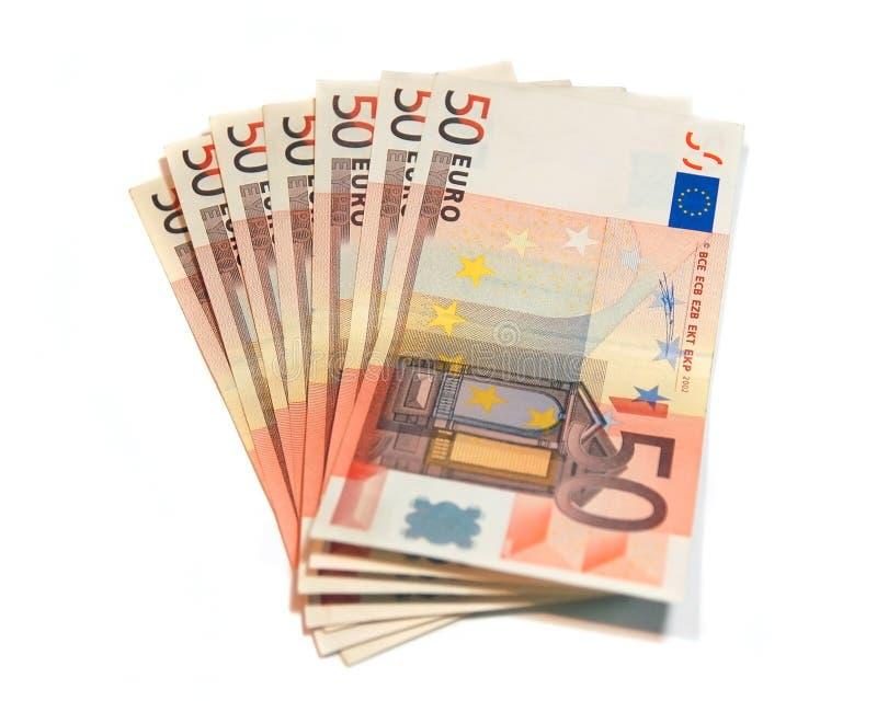 Un gruppo di euro banconote fotografia stock