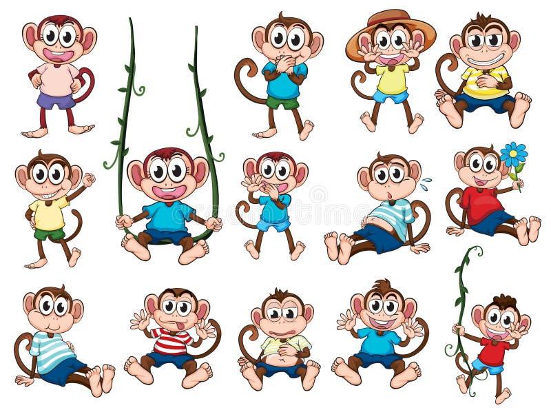 Un gruppo di scimmie royalty illustrazione gratis