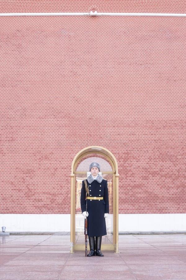 Un guardia ruso del regimiento del Kremlin imagen de archivo