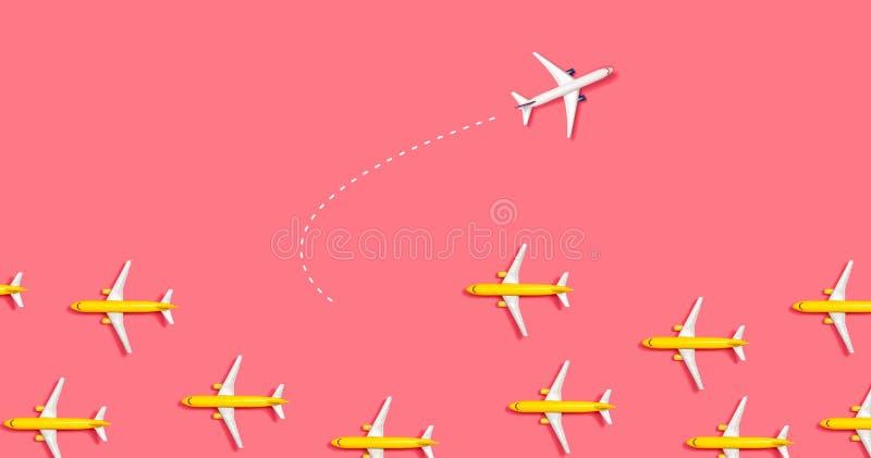 Un hacia fuera concepto ?nico del aeroplano del juguete ilustración del vector