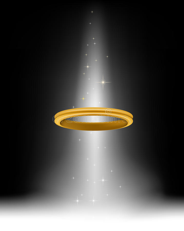 Un halo d'ange pour vous conception illustration de vecteur