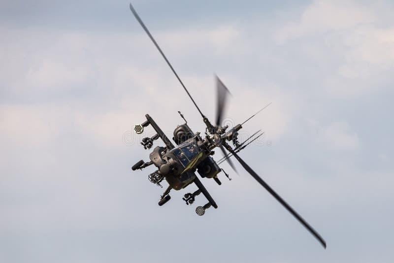 Un helicóptero de ataque de Boeing AH-64 Apache fotografía de archivo libre de regalías