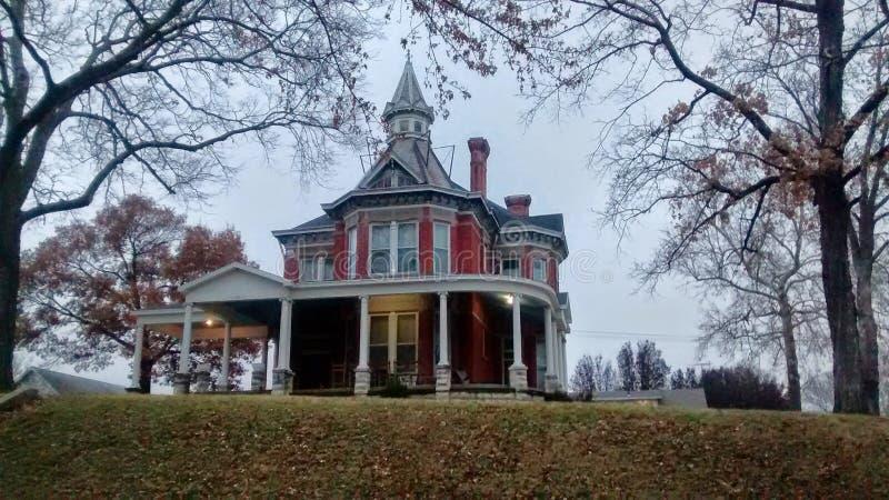 Un hogar histórico hermoso en Atchison Kansas imagenes de archivo
