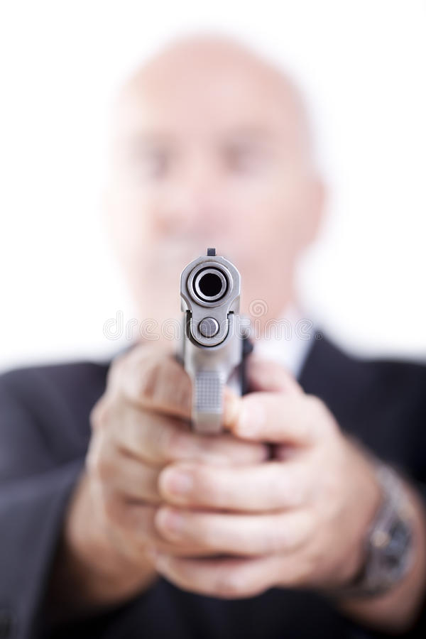 El arma le tuvo como objetivo fotografía de archivo libre de regalías