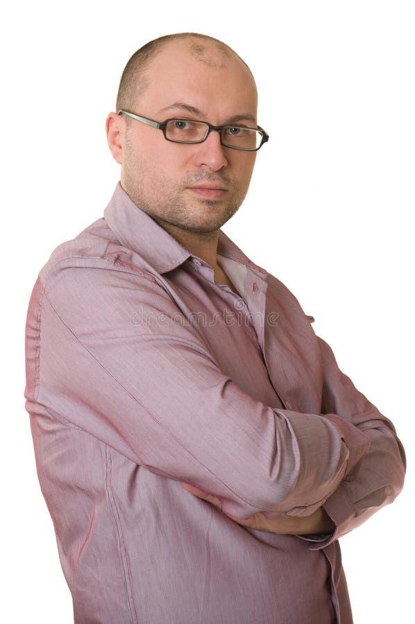 Un hombre agradable con los vidrios imagen de archivo