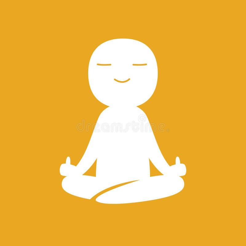 Un hombre medita con el dedo medio libre illustration