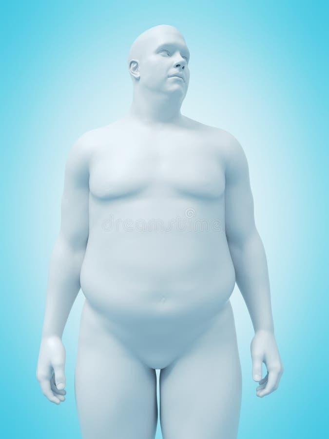 Un hombre obeso stock de ilustración