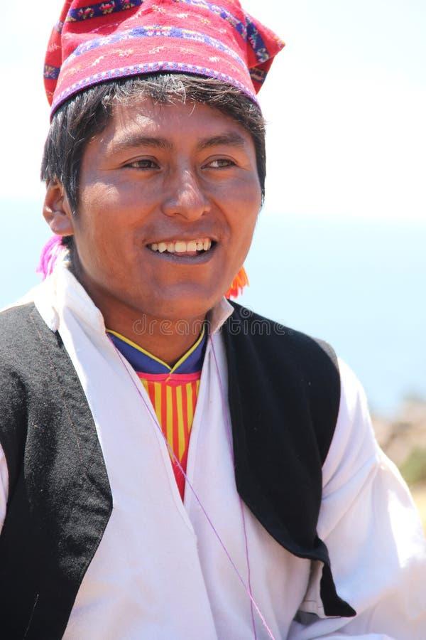 Un hombre peruano en Taquile fotos de archivo libres de regalías