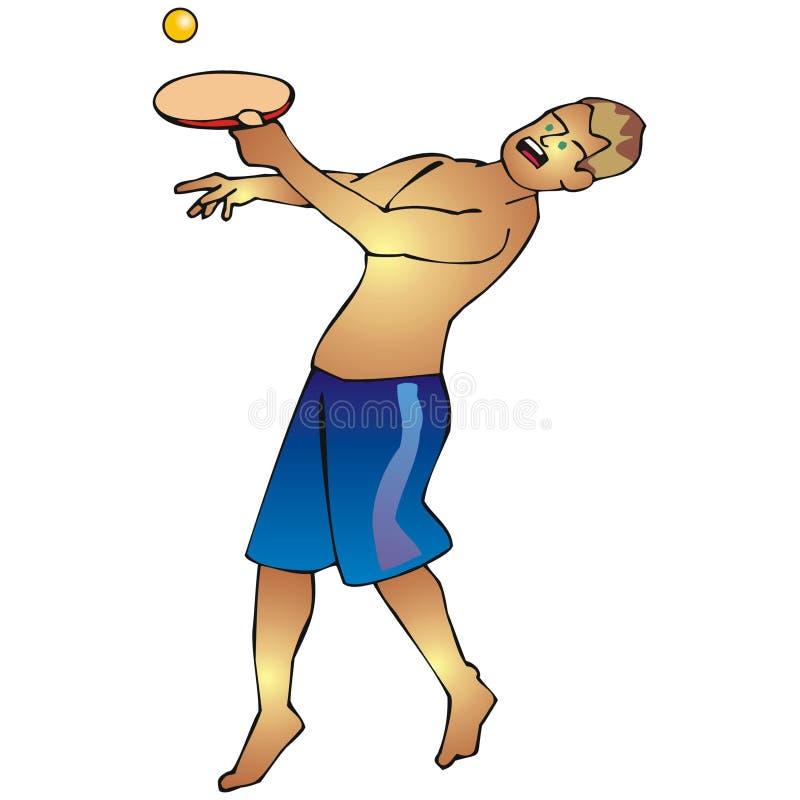 Un hombre que juega el racketball ilustración del vector