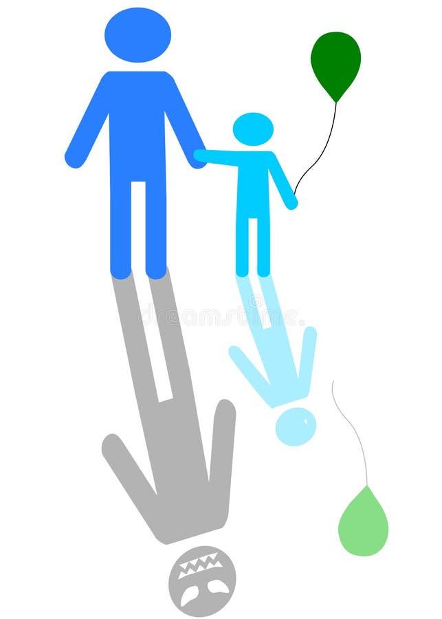 Un homme avec un garçon? illustration de vecteur