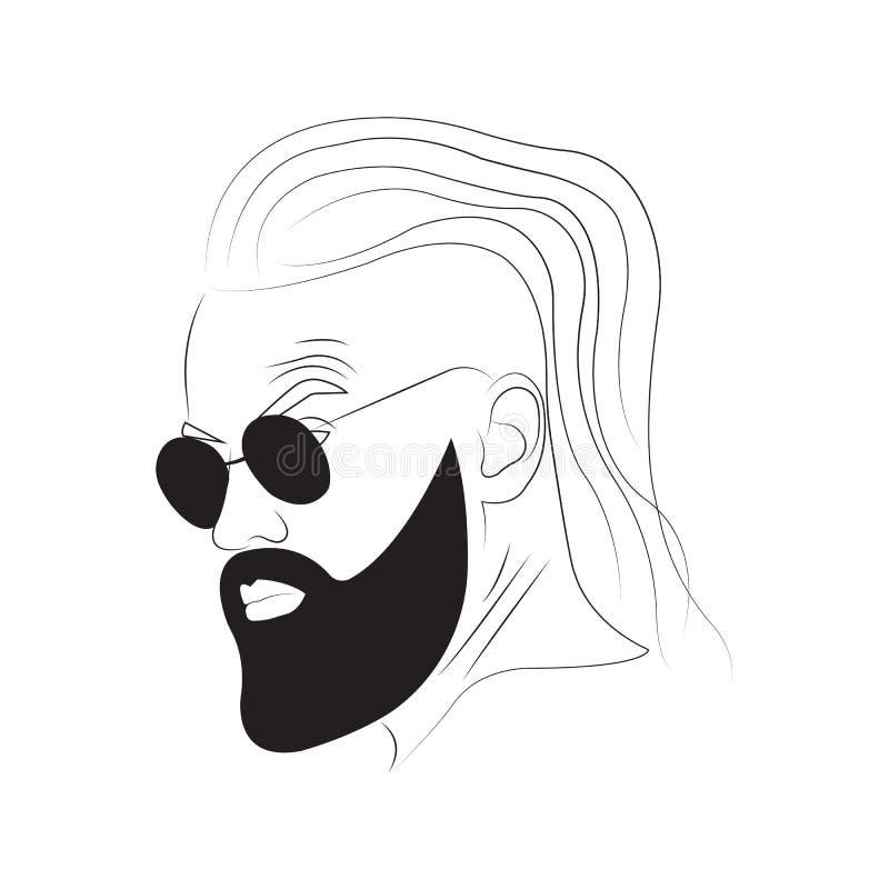 Un homme avec une barbe photo stock