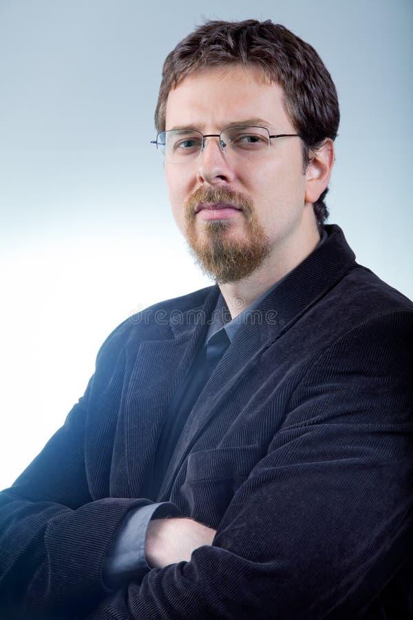 Un homme d'affaires - amorce intelligente confiante photos libres de droits