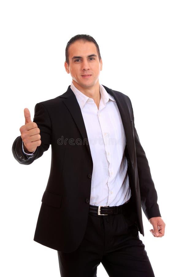 Un homme d'affaires avec le pouce vers le haut image stock
