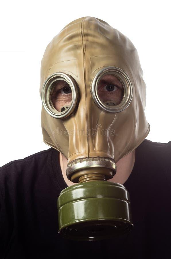 Un homme dans un masque de gaz GP-5 image libre de droits