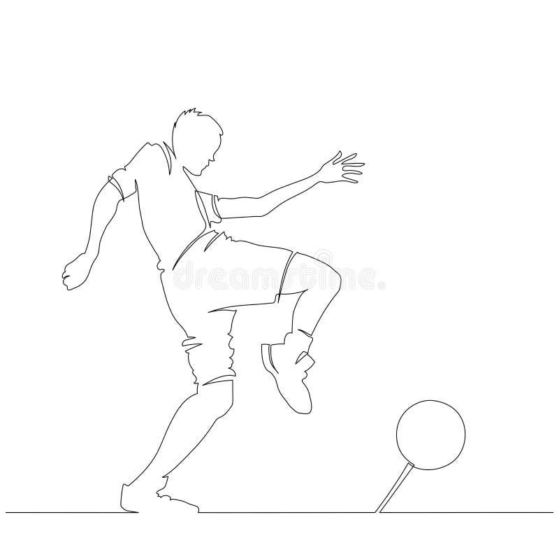 Un homme de footballeur d'isolement sur le fond blanc illustration stock