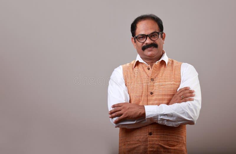 Un homme indien de sourire image stock