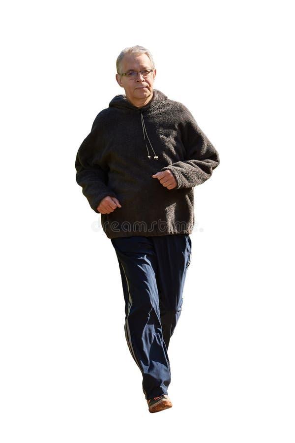 Un homme plus âgé court photos stock
