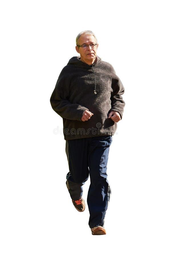 Un homme plus âgé court images libres de droits