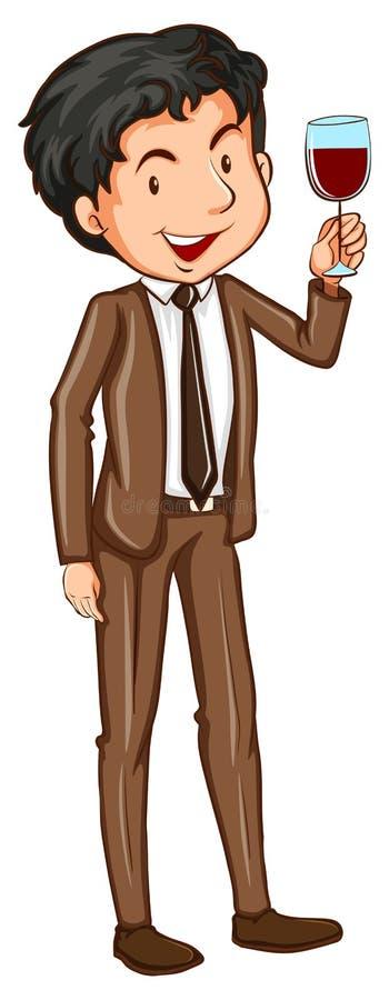 Un homme simple utilisant un vêtement formel illustration libre de droits