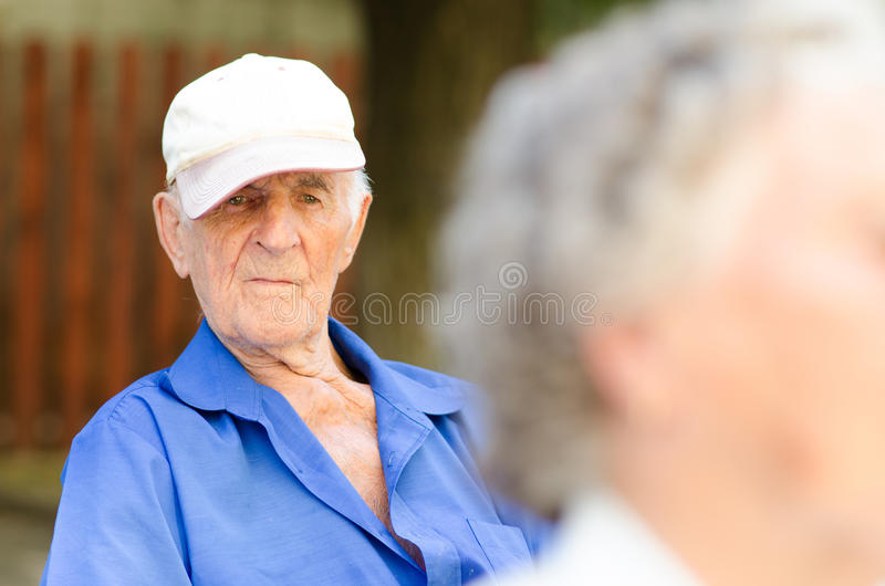 Un homme supérieur plus âgé photos stock