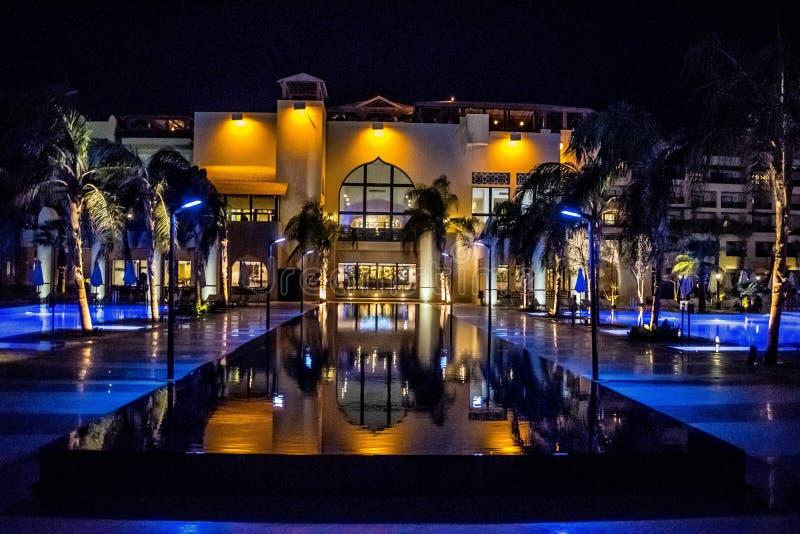 Un hotel di cinque stelle nell'Egitto fotografie stock libere da diritti