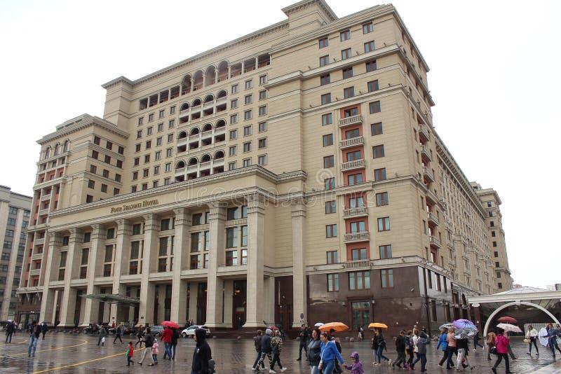 Un hotel Mosca 5 di quattro stagioni * precedentemente - il ` di Mosca del ` dell'hotel immagini stock