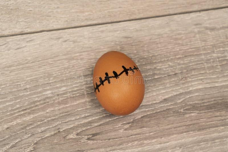 Un huevo cosido fotos de archivo libres de regalías