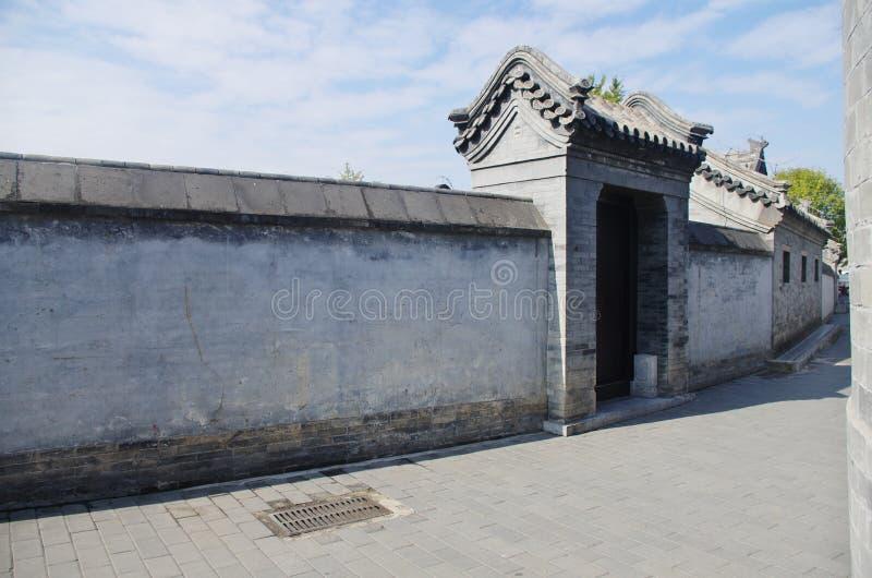 Un hutongl a Pechino immagine stock