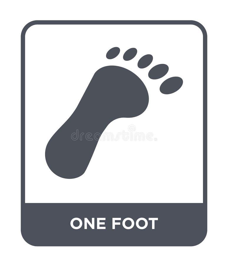 un'icona del piede nello stile d'avanguardia di progettazione un'icona del piede isolata su fondo bianco un piano semplice e mode illustrazione di stock
