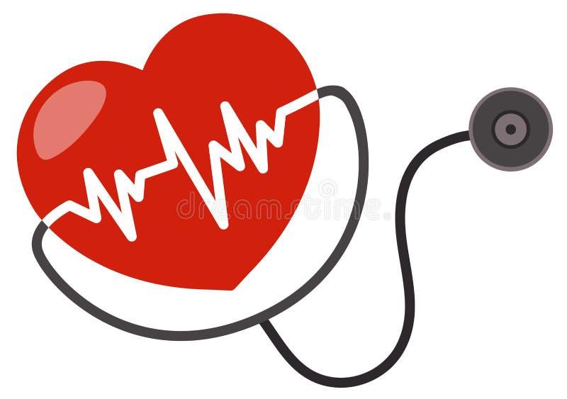 Un'icona di cuore sano illustrazione di stock