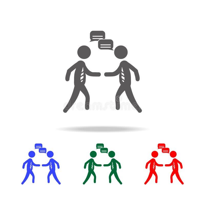 Un'icona di due altoparlanti Elementi della risorsa umana nelle multi icone colorate Affare, segno della risorsa umana Ricerca de illustrazione di stock