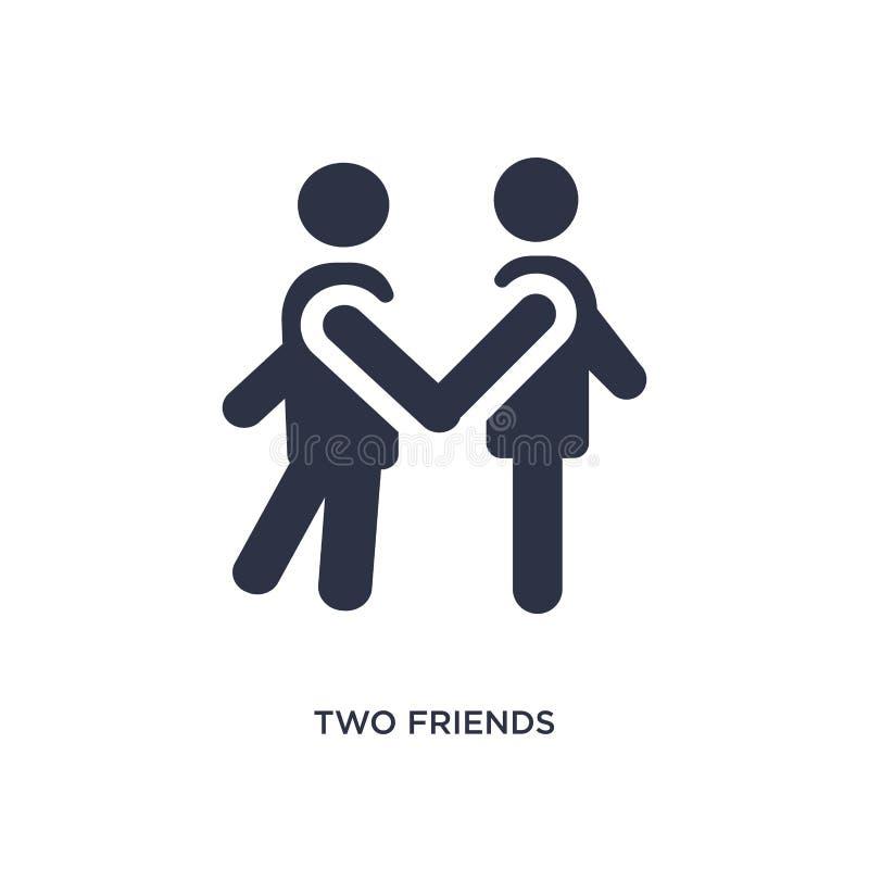 un'icona di due amici su fondo bianco Illustrazione semplice dell'elemento dal concetto di comportamento royalty illustrazione gratis