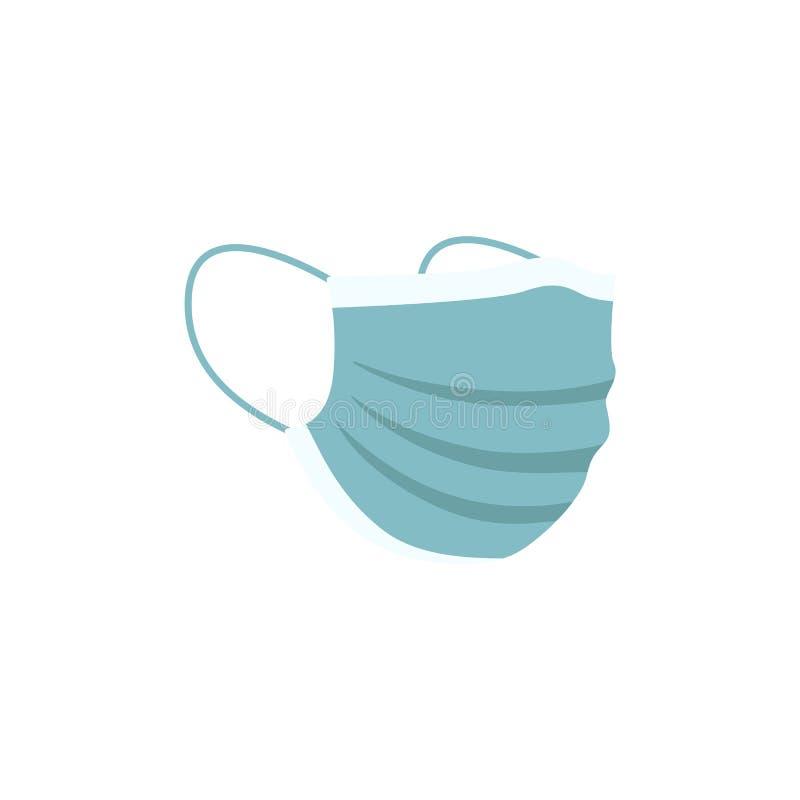 Un'icona o un simbolo isolata di una maschera medica da proteggere dalle infezioni e dall'inquinamento atmosferico illustrazione di stock