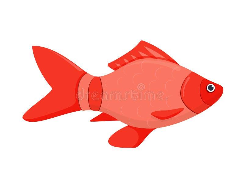 Un'icona piana colorata di vettore di un pesce illustrazione di stock