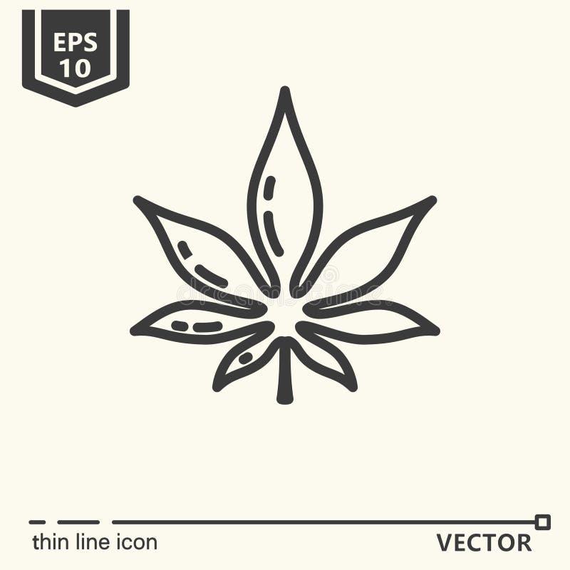 Un icono - cáñamo stock de ilustración