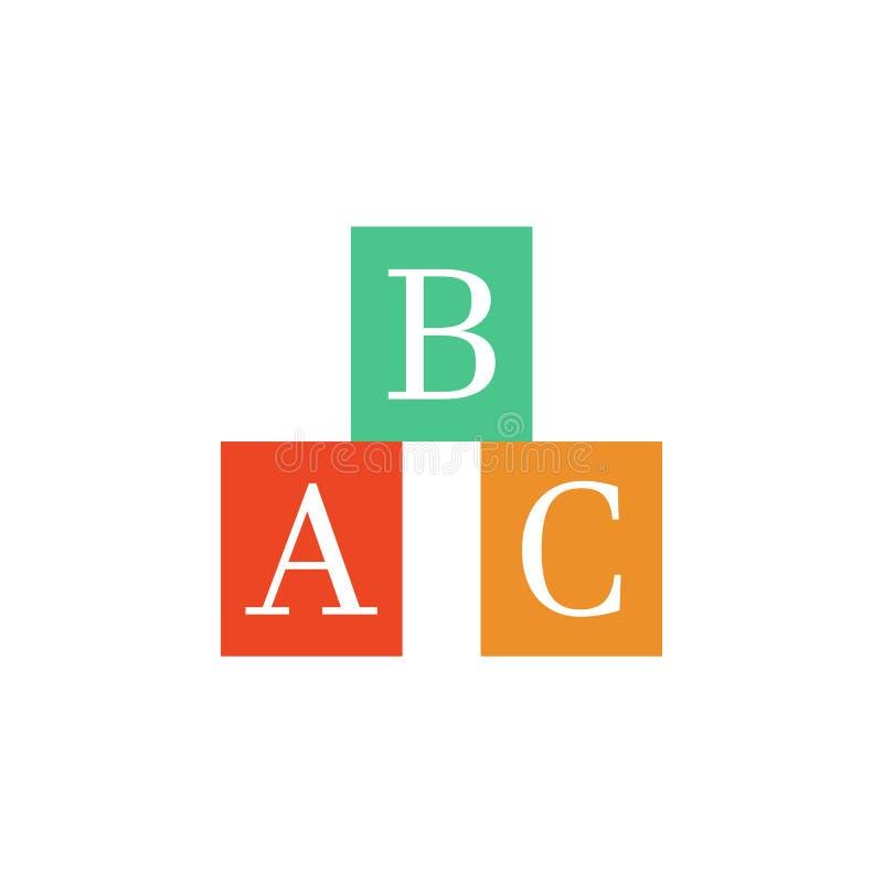 un icono coloreado caja de b c Elemento del icono de la escuela para los apps móviles del concepto y del web Detalló un icono de  libre illustration