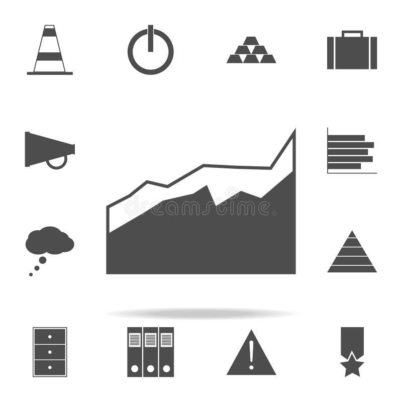 un icono comparativo del diagrama sistema universal de los iconos del web para el web y el móvil libre illustration
