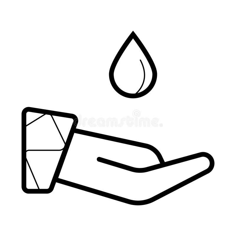 Un icono del descenso plano ilustración del vector