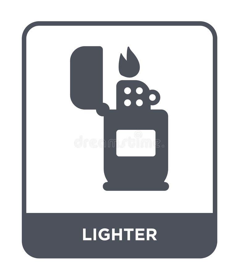 un icono más ligero en estilo de moda del diseño un icono más ligero aislado en el fondo blanco símbolo plano simple y moderno de libre illustration
