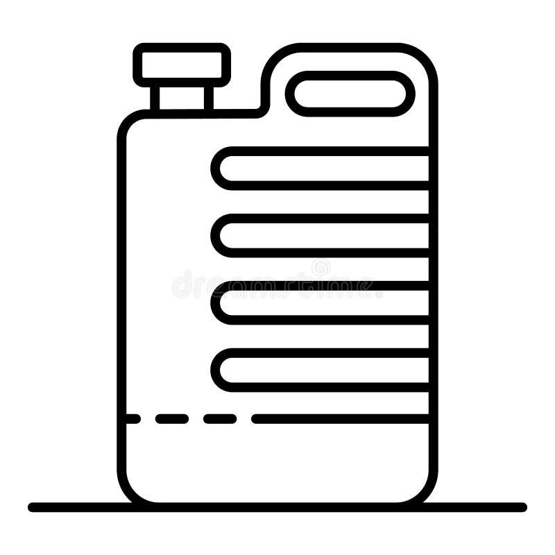 Un icono m?s limpio del bote, estilo del esquema libre illustration