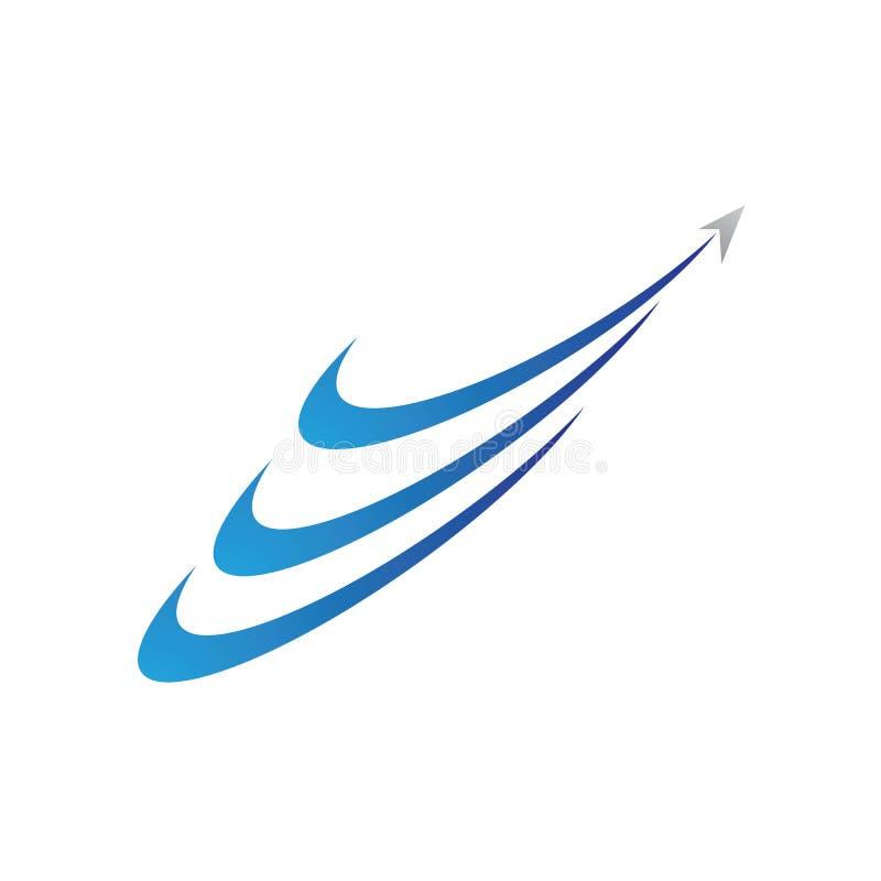 Un icono m?s r?pido del vector de Logo Template libre illustration