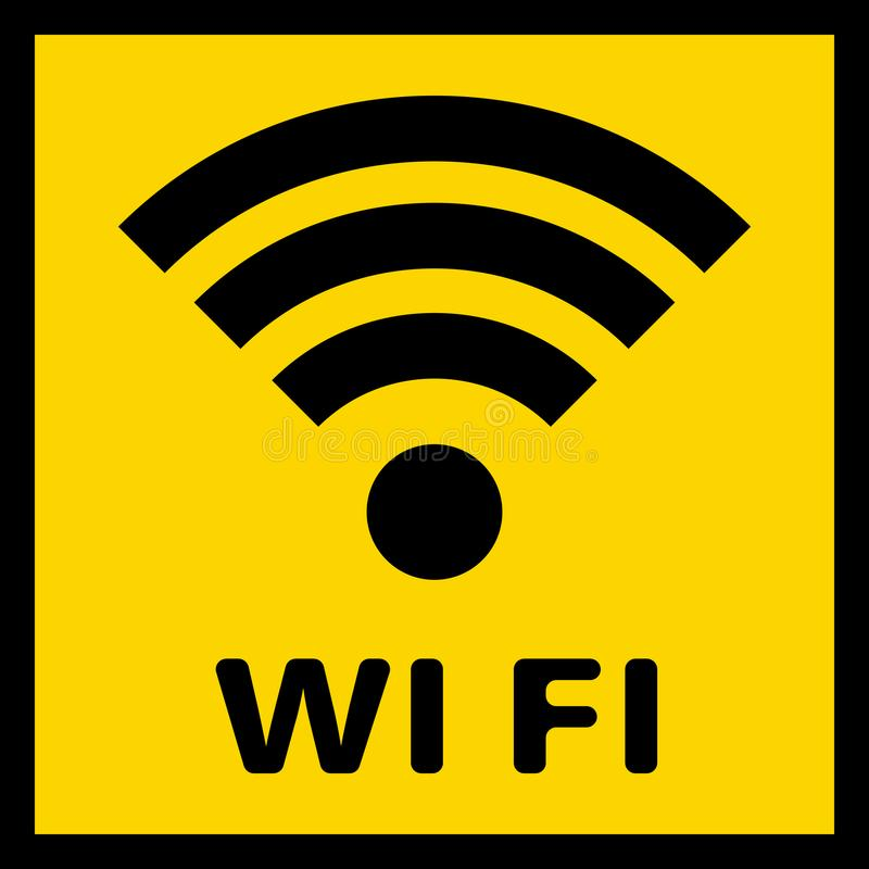 Un icono simple del Wi-Fi a indicar en el servicio ilustración del vector