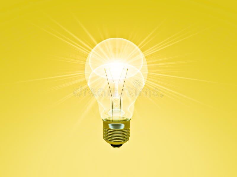 Un'idea luminosa illustrazione di stock